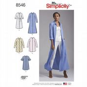 8546 Simplicity Pattern: Miss Petite Shirt Dress